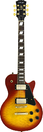 GUITARRA ELECTRICA TIPO LES PAUL QUILTED CHERRYBURST STAGG