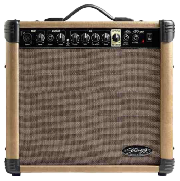 AMPLIFICADOR 40 WATTS - 2 ENTRADAS (CANON-PLUG) - DISTORSION - REVERB STAGG