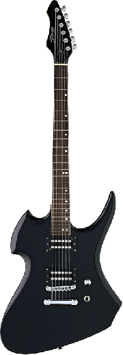 GUITARRA ELECTRICA TIPO HEAVY 2 MIC. HUMB. Color NEGRO STAGG