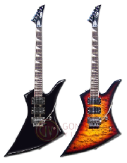 Guitarra electrica TIPO KELLY - CON FLOYD ROSE - COLOR SUNBURST LEONARD