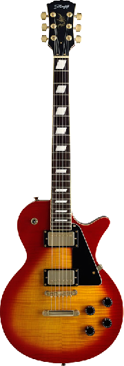 GUITARRA ELECTRICA TIPO LES PAUL FLAME CHERRYBURST STAGG