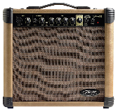 AMPLIFICADOR 20 WATTS - 2 ENTRADAS (CANON-PLUG) - DISTORSION - REVERB STAGG