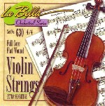 Encordado de Violin Full core - Flat wound. LA BELLA