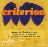 Encordado Acoustic /Golden Alloy Wound /010-050 - 8 CUERDAS CRITERION