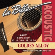 Encordado.Golden Alloy Wound.  010-050 LA BELLA