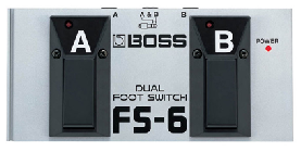 Pedal Boss Fs-6 Dual Footswitch